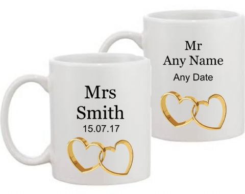 Personalised Mr & Mrs Mugs